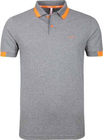 Sun68 Poloshirt Big Stripe Grey