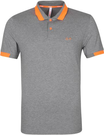 Sun68 Poloshirt Big Stripes Grau