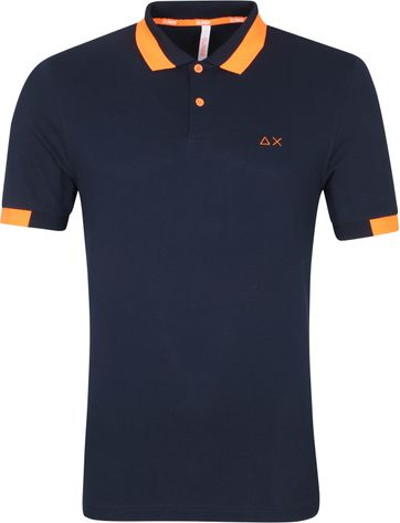 Sun68 Poloshirt Big Stripes Navy