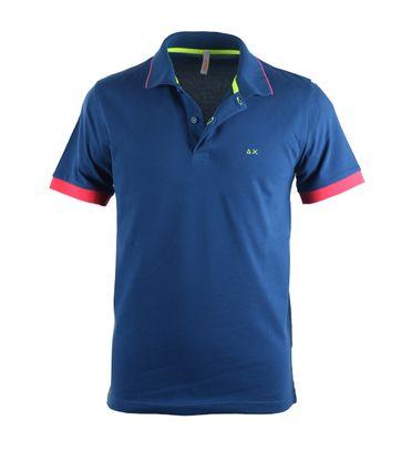 Sun68 Poloshirt Blue + Fuchsia
