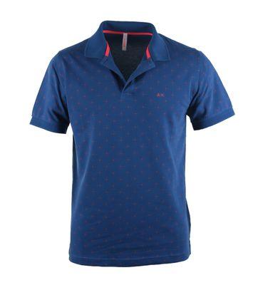 Sun68 Poloshirt Blue Print