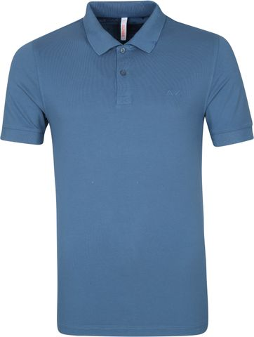 Sun68 Poloshirt Cold Dye Blau