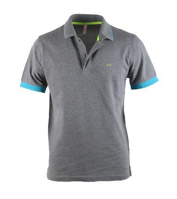 Sun68 Poloshirt Grey + Aqua