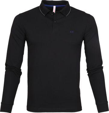 Sun68 Poloshirt LS Black