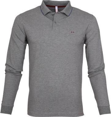 Sun68 Poloshirt LS Grey