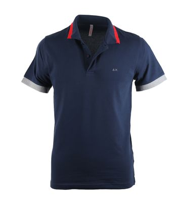 Sun68 Poloshirt Navy + Red