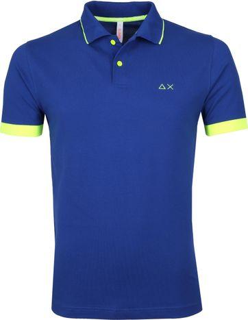 Sun68 Poloshirt Small Stripe Blau