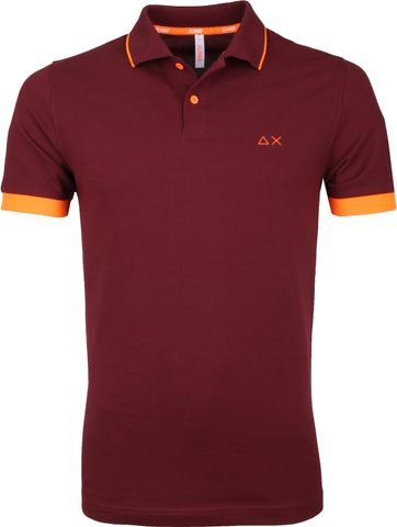 Sun68 Poloshirt Small Stripe Burgundy