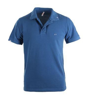 Sun68 Poloshirt Solid Blue