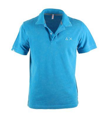 Sun68 Poloshirt Vintage Blue