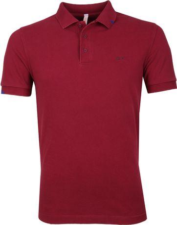 Sun68 Poloshirt Vintage Bordeaux
