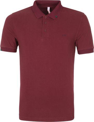 Sun68 Poloshirt Vintage Solid Bordeaux Rot