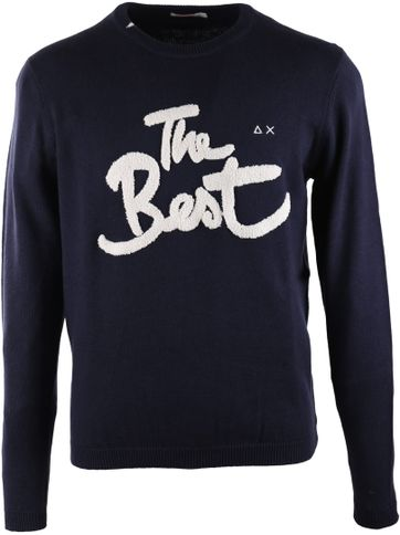 Sun68 Pullover O-neck Donkerblauw The Best
