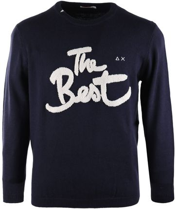 Sun68 Pullover O-neck Navy The Best