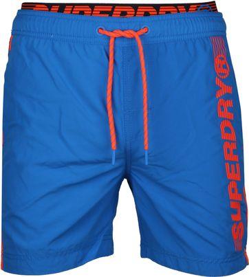 Superdry Badeshorts Volley State Blau