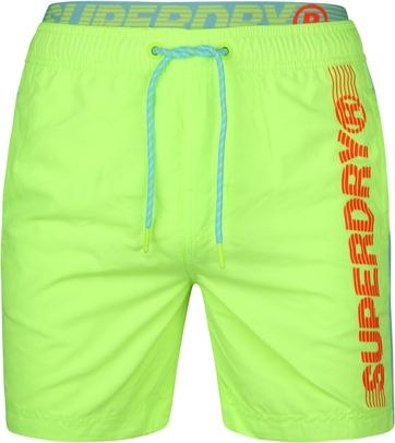 Superdry Badeshorts Volley State Fluor Gelb