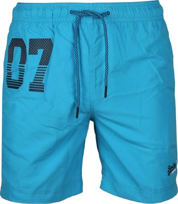 Superdry Badeshorts Water Polo Blau