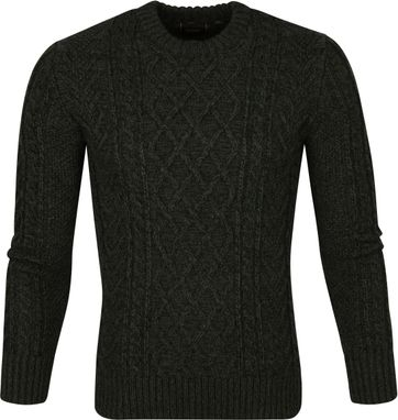 Superdry Cable Sweater Dark Green