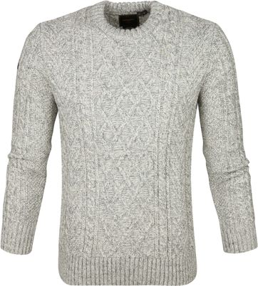 Superdry Cable Sweater Light Grey