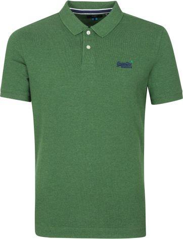 Superdry Classic Pique Polo Shirt Grün