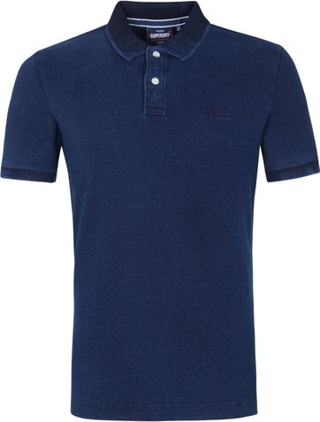 Superdry Classic Pique Polo Shirt Indigo Blue