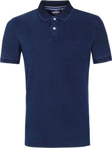 Superdry Classic Pique Polo Shirt Indigo Blue