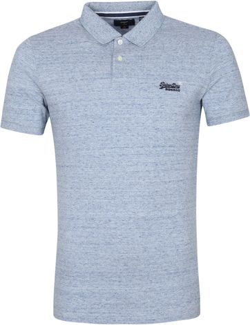 Superdry Classic Pique Polo Shirt Melange Blue