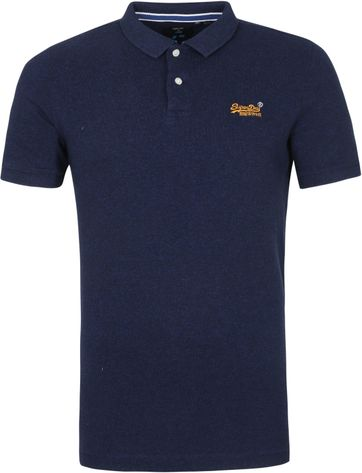 Superdry Classic Pique Polo Shirt Oasis Blau