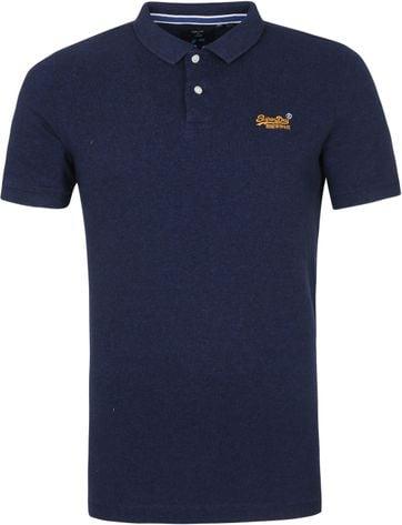 Superdry Classic Pique Polo Shirt Oasis Blue