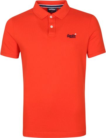 Superdry Classic Pique Polo Shirt Rot