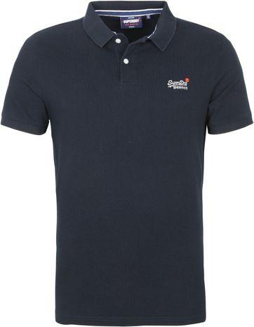 Superdry Classic Pique Poloshirt Dark Blue