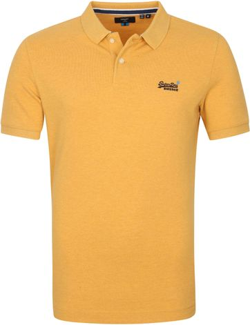 Superdry Classic Pique Poloshirt Ockergelb