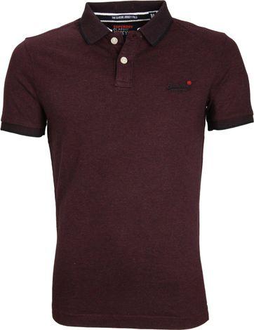 Superdry Classic Poloshirt Bordeaux