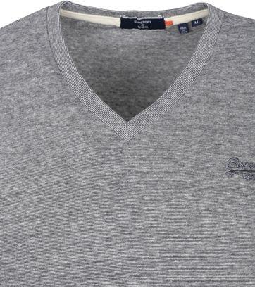 Superdry Classic T-Shirt V-hals Grijs