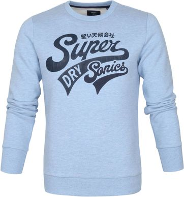 Superdry Collegiate Sweater Light Blue