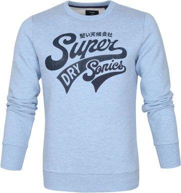 Superdry Collegiate Trui Lichtblauw