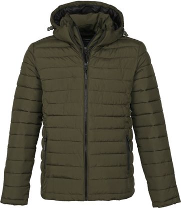 Superdry Fuji Hooded Jack Dark Green