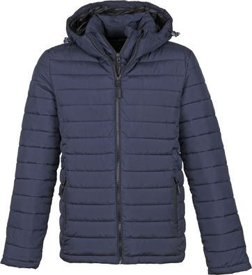 Superdry Fuji Hooded Jas Donkerblauw