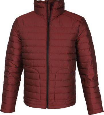 Superdry Fuji Jas Herringbone Bordeaux
