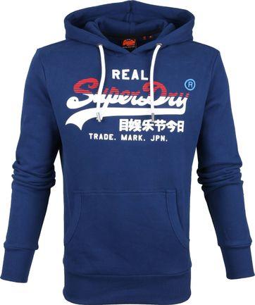 Superdry Hoodie Blauw
