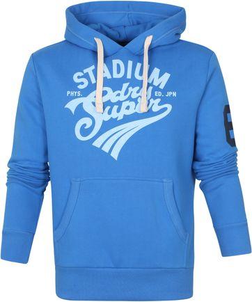 Superdry Hoodie Collegiate Blauw