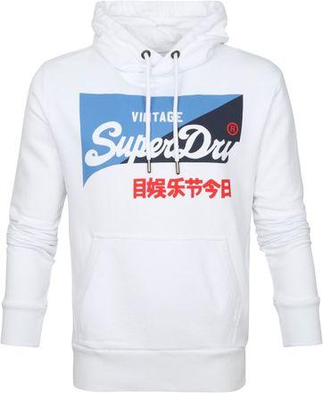 Superdry Hoodie Primary Wit