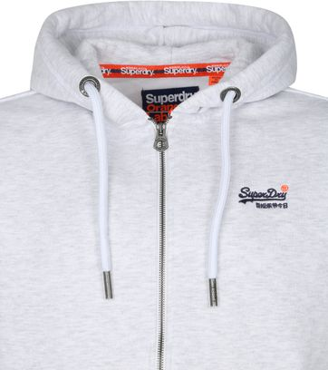 Superdry Hoodie Zip Sweater Off White