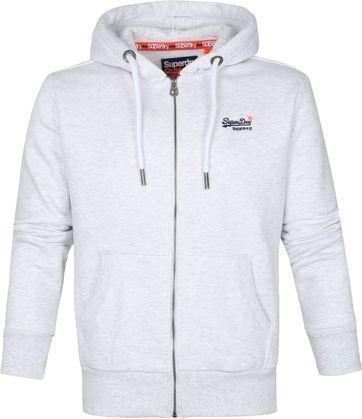 Superdry Hoodie Zip Vest Off White