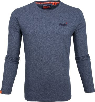 Superdry Longsleeve Cotton Blauw