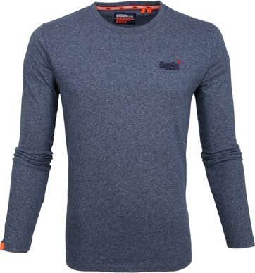 Superdry Longsleeve Cotton Blue