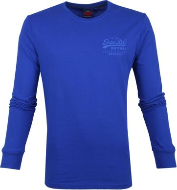 Superdry Longsleeve Cotton Cobalt
