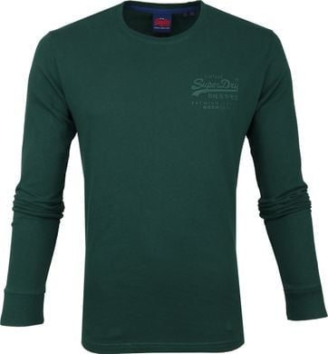 Superdry Longsleeve Cotton Darkgreen