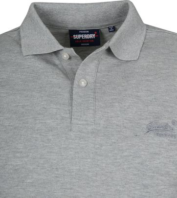 Superdry Micro Classic Polo Grijs