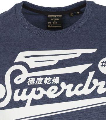 Superdry Military Graphic T-Shirt 185 Blauw